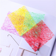 Glitter Line Net 3D Nail Sticker 1 Sheet Red Green Purple Yellow Nail Decoration Decal Nail Decoration Water Sticker