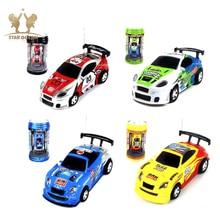 Coke Can Mini RC Car Radio Remote Control Micro Racing Car 4 Frequencies Toy For Children 27/35/40/49MHZ Radio Remote Control стоимость