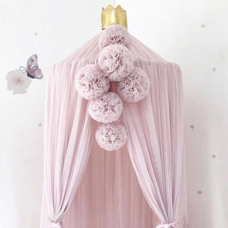 Nordic Style Mosquito Net Muslin Decoration Cute Hanging Ornament Crafts For Bedroom Girls Princess Kids Room Decoration