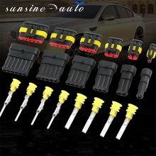 5 комплектов в комплекте 1P 2P 3P 4P 5P 6P AMP 1,5 вилка для мужчин и женщин автомобильные водонепроницаемые разъемы Разъем для ксеноновой лампы для автомобиля