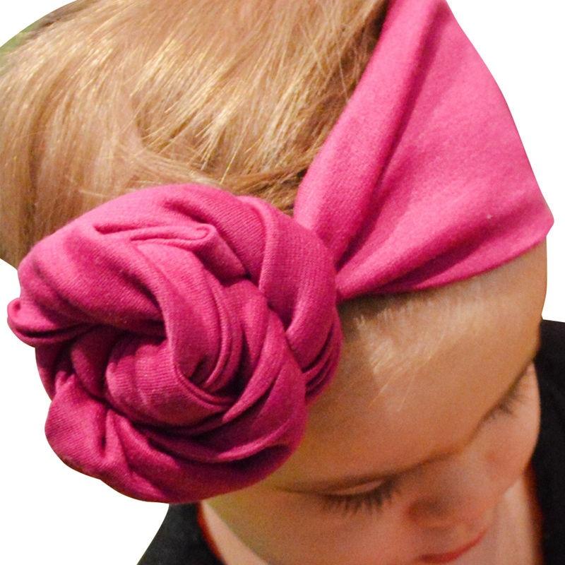 Naturalwell New Flower head band elastic cotton Kids headwrap Floral bead turban Newborns shower gift Newborn headbands HB203D