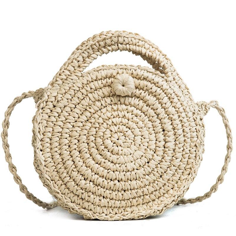 2018 Sommer Mode Runde Stroh Tasche Für Frauen Mini Vintage