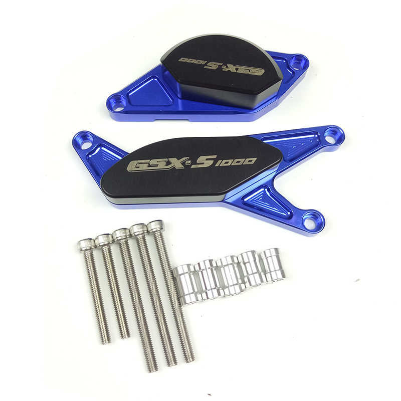 Untuk Suzuki GSX-S1000 GSX-S1000F GSX-S 1000 2015 2016 GSXS1000 CNC Pom Frame Slider Crash Pad Mesin Stator Kasus Saver Cover