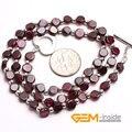 5 ММ Монета Форма Природный, Гранат Природный Камень Ожерелье 17 Дюйм(ов) Камень Января Хранитель Камня Для Скорпион Бесплатная Доставка