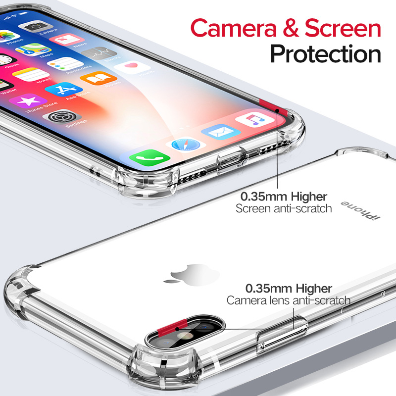 Luxury Shockproof Case For iPhone X XS XR 8 7 6 s Plus Capinhas Ultra Slim Soft TPU Silicone Cover Case For iPhone X Coque Funda in Fitted Cases from Cellphones Telecommunications