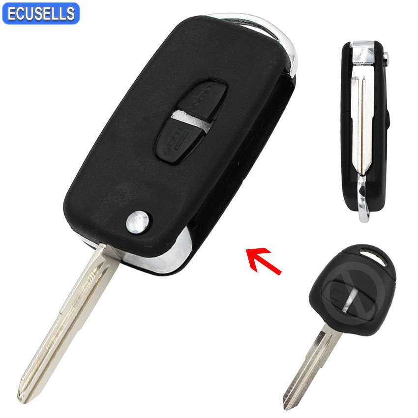 Replacement 2 button case for Mitsubishi Outlander L200 Warrior remote key fob