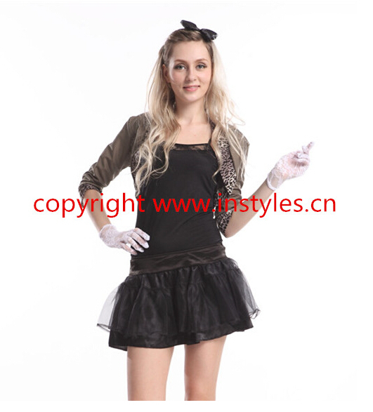 party costume factory fZY384 80S DISCO costume Outfit Adult Fancy Dress  Halloween Costume be5ba946e873