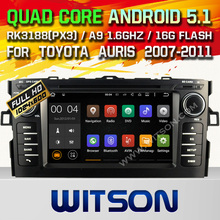 WITSON Android 5.1 CAR DVD GPS Capctive Screen for TOYOTA AURIS 1080P HD DSP WiFi Built In 16GB Inand+Free Shipping