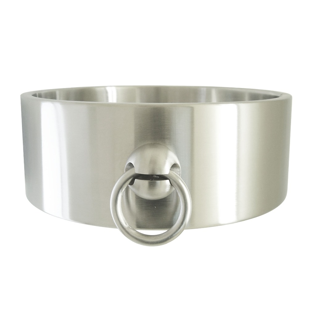 High quality heavy duty stainless steel locking slave collar fetish choker sexual desire neck