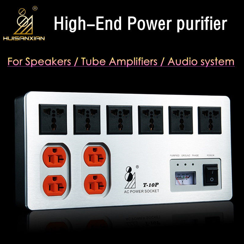 все цены на 2017 New Nobsound HiFi Audio Noise Power Purifier Power Supply Filter AC Socket For Tube Amplifier онлайн