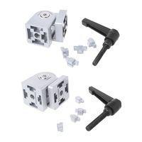 Cast Pivot Joint Connector For Aluminum Extrusion Profile Zinc Alloy Flexible Hinge With Handle Die