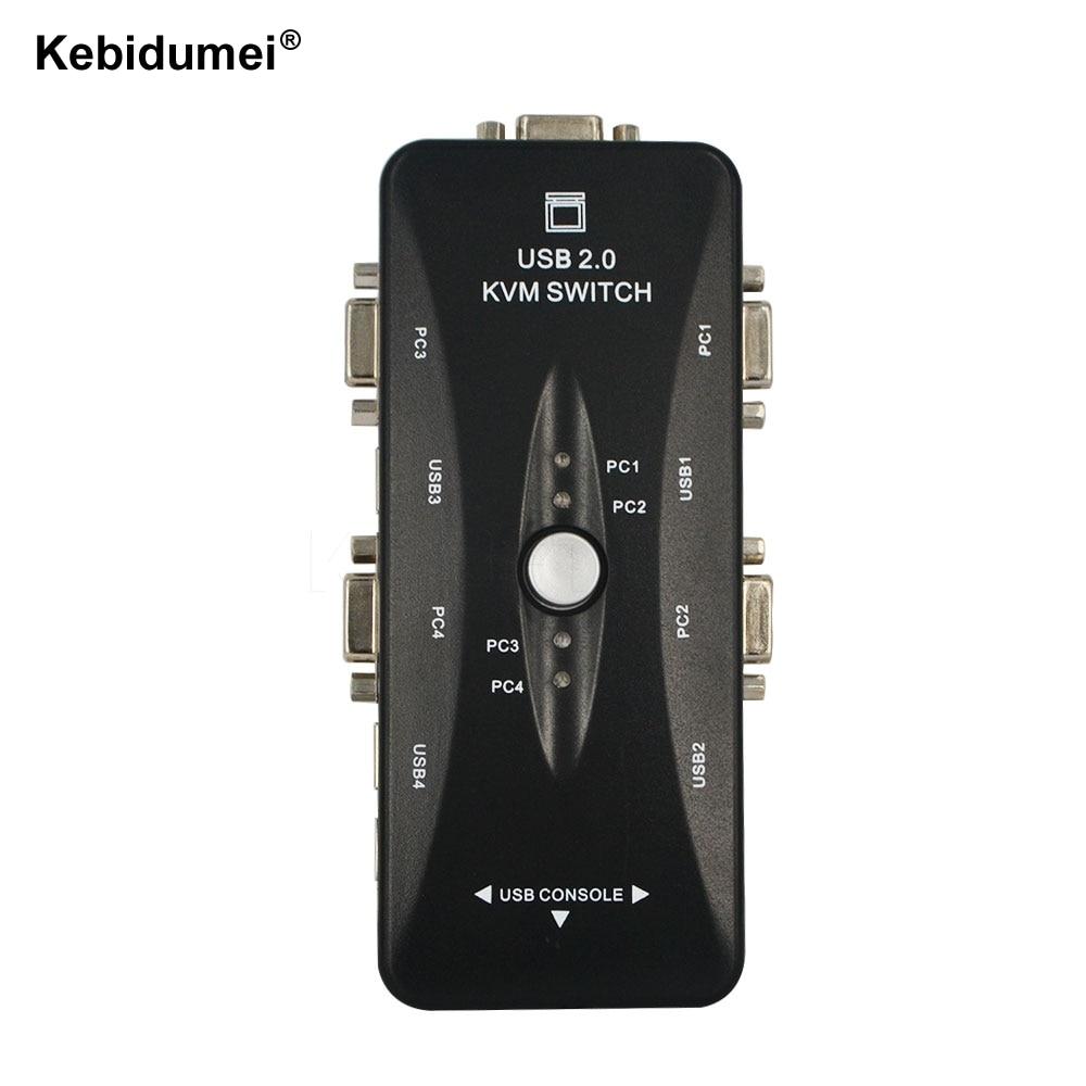Computer & Büro Offen Kebidumei Usb2.0 Kvm-switch 4 Ports Vga Selector Print Signalgeber Moniter Box Vga Splitter V322 Usb 2.0 Kvm-switch Extrem Effizient In Der WäRmeerhaltung