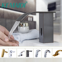 KEMAIDI Bathroom Faucet Kitchen Automatic Sensor Hands Free Brass ORB Black Chrome Polished Swivel Mixer / Single Cold Tap
