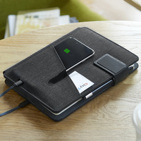 Multi Functional Notebook with 5000 mAh Power Bank Supplies Business Gift Office Supply Writing Pad A5