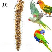 1Pcs Pet Bird Parrot Stainless Steel Food Basket Fruits Vegetables Feeding Device Toys Cage Pendant Decor
