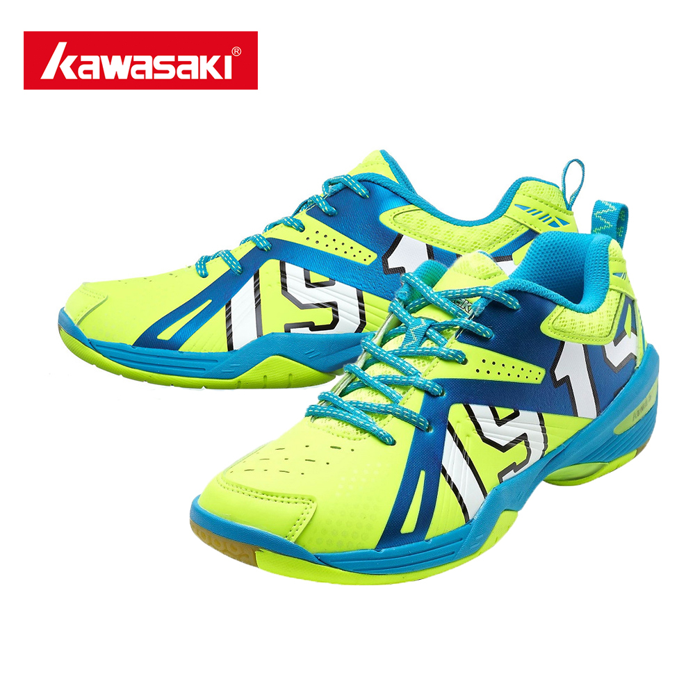 ФОТО Newest Kawasaki K-516 Badminton Shoes Men and Women Dynamic Rubber Breathable Training Shoes Jufeng Series K516 With Free Gift