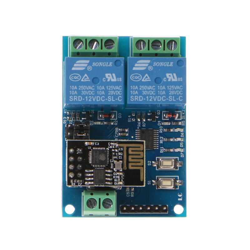 WIFI Relay Module ESP8266 IOT APP Controller 2-Channel For Smart Home 12V W215 esp 07 esp8266 uart serial to wifi wireless module