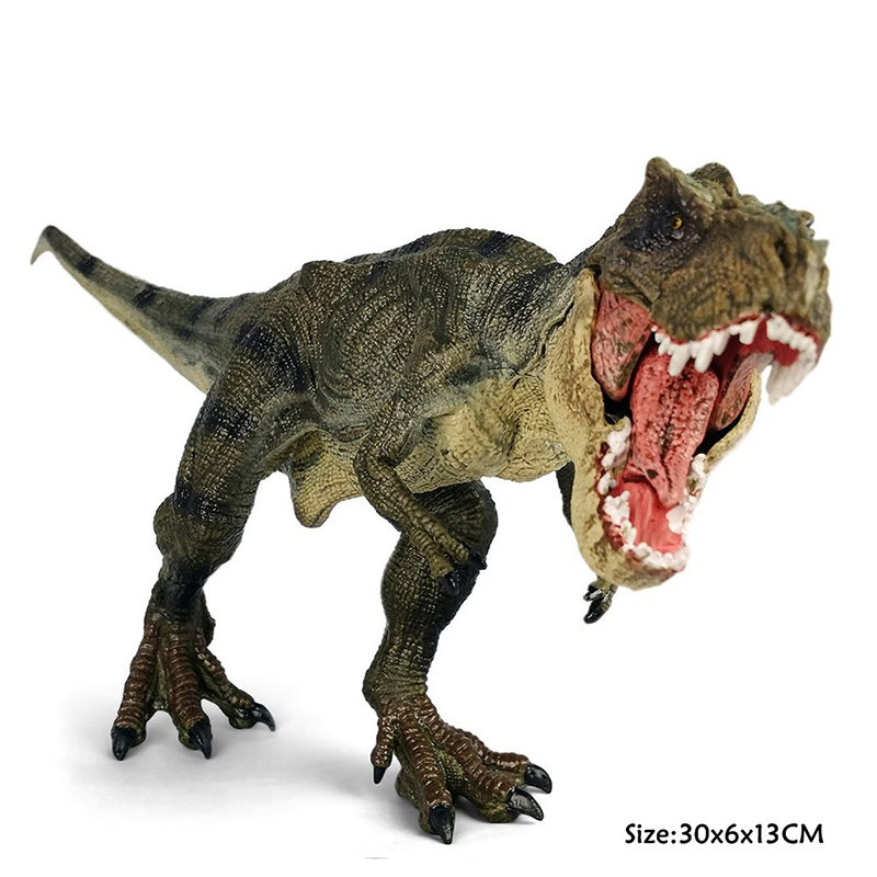 Jurassic World Dinosaur Park Tyrannosaurus Rex Dinosaur Plastic Toy Model Kids Gifts jurassic monster action tyrannosaurus rex can use electric to lay an egg with light simulation model children s toy