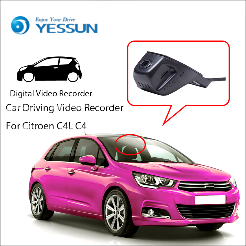 цена For Citroen C4L C4 / Car Driving Video Recorder Mini DVR Wifi Camera Black Box / Novatek 96658 FHD 1080P Dash Cam Original Style