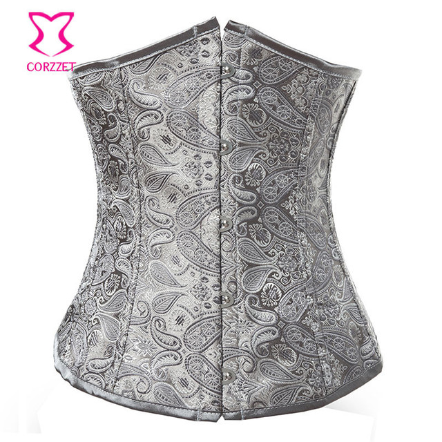 Corzzet Sexy Boned Waist slimming Brocade Corsets and Bustiers Vintage Embroidery Lace Up Corselet Gothic Plus Size  Body Shaper