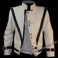 HOT MJ Michael Jackson White vocal concert Thriller Jacket Outwear Punk