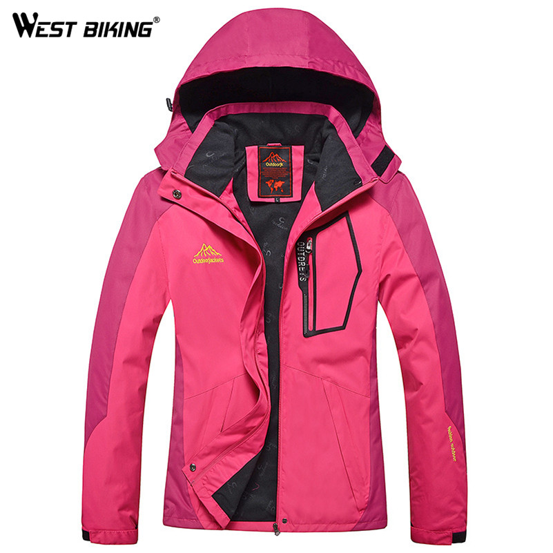 WEST BIKING Winter Waterproof Windproof Hooded Jacket Warm Plus Size Outdoor Sport Jackets Cycling Hiking Climbing Women Jacket men and women winter ski snowboarding climbing hiking trekking windproof waterproof warm hooded jacket coat outwear s m l xl