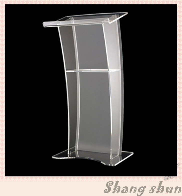 Clear Acrylic Lectern/Lucite Chruch Podium/Transparent Pmma Pulpit Modern Church Pulpit Classroom Lectern Podium cheap speaker stands pulpit lectern organic glass lectern podium modern plexiglass lectern transparent acrylic lectern