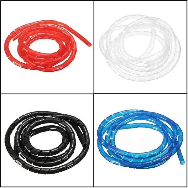 1 M Durable Fil En Spirale Emballage Tube Gérer Cordon pour Ordinateur PC Accueil Câble 4-50 MM Plus Bas Prix