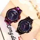 Novo estilo de moda céu estrelado preto vestido de mulher relógio com mostrador grande caixa à prova d' água senhoras relógio de quartzo com pulseira de aço