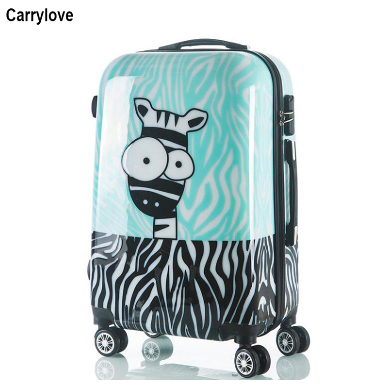Luggage & Bags Carrylove 20 24 Inc Kids Hard Travel Suitcase Kinder Koffer Students Trolley Luggage Bag On Wheels Rolling Luggage