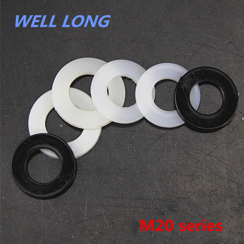 100pcs/lot Nylon Screw Gasket Insulation Plastic Flat Pad Plastic Washer,M20.100pcs/lot Nylon Screw Gasket Insulation Plastic Flat Pad Plastic Washer,M20.