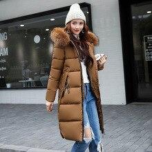 Women Winter Parka 2017 Long Parka Women Plus Size Fur Collar Hooded Warm Cotton Padd Jacket Winter Coat Women