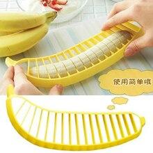 HOT SALE! 2pcs Banana Slicer Chopper Cutter Plastic Banana Salad Make Tool Fruit Salad Sausage Cereal Cutter Plastic