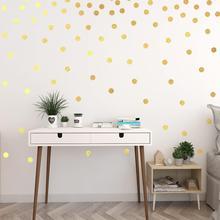 Gold Circle Wall Sticker For Kids Room Baby Nursery Bedroom Children Decals Home Art Wallpaper Decor 28x28cm