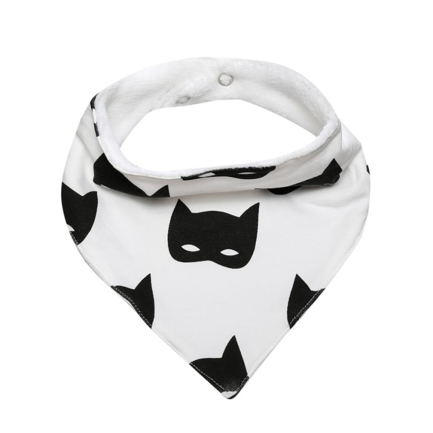 BMF TELOTUNY Fashion Baby Kids Cotton Bandana Bibs Feeding Saliva Towel Cartoons Print Dribble Waterproof Apr24 Drop Ship