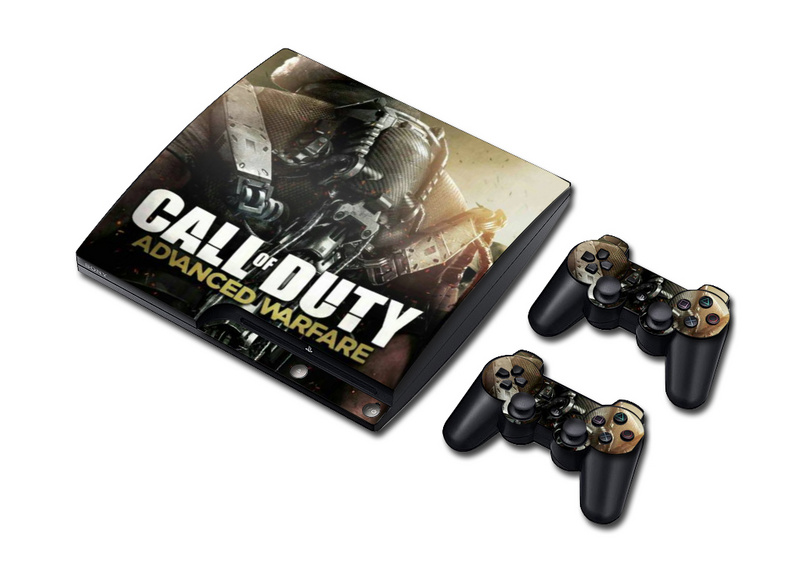Newest Call of Duty Vinyl Skin Sticker for PS3 Slim and 2 Controller Controle Skins Stickers for Sony Plastation 3 Slim