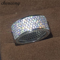 Choucong Victoria Wieck Full Pave Set 320pcs Diamonique Cz White Gold Filled Engagement Wedding Band Ring