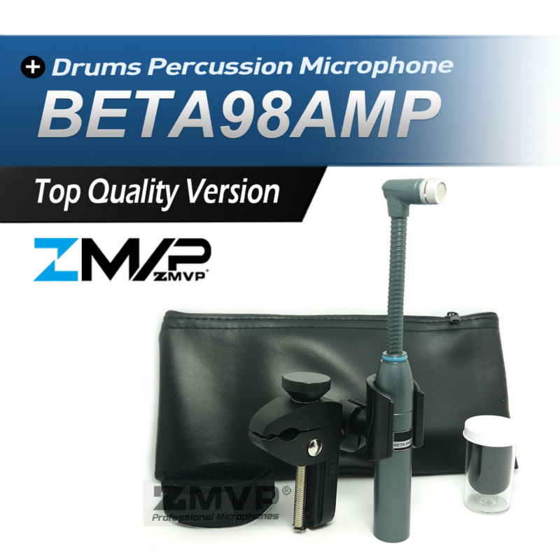 Free Shiping! Professional BETA98AMP Drums Percussion BETA98 Gooseneck Cardioid Condenser Instrument Microphone Microfone Mic  professional lapela condenser saxophone microphone music instrument microfone for shure wireless system xlr mini microphones