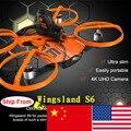 Новейшие Wingsland S6 Карман Drone RC Quacopter Wi-Fi С 4 К HD Камера Избегание Препятствий