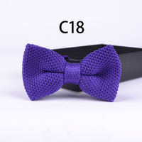 2015 Solid Color Popular Knitted Bowties Party Banquet Knitting Bow Ties Double Layer High Quality