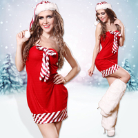 Hight Quality Hot Sale Santa Clause Cospaly Costume Christmas Party Clothes Role Playing Nightclub Xmas Costume