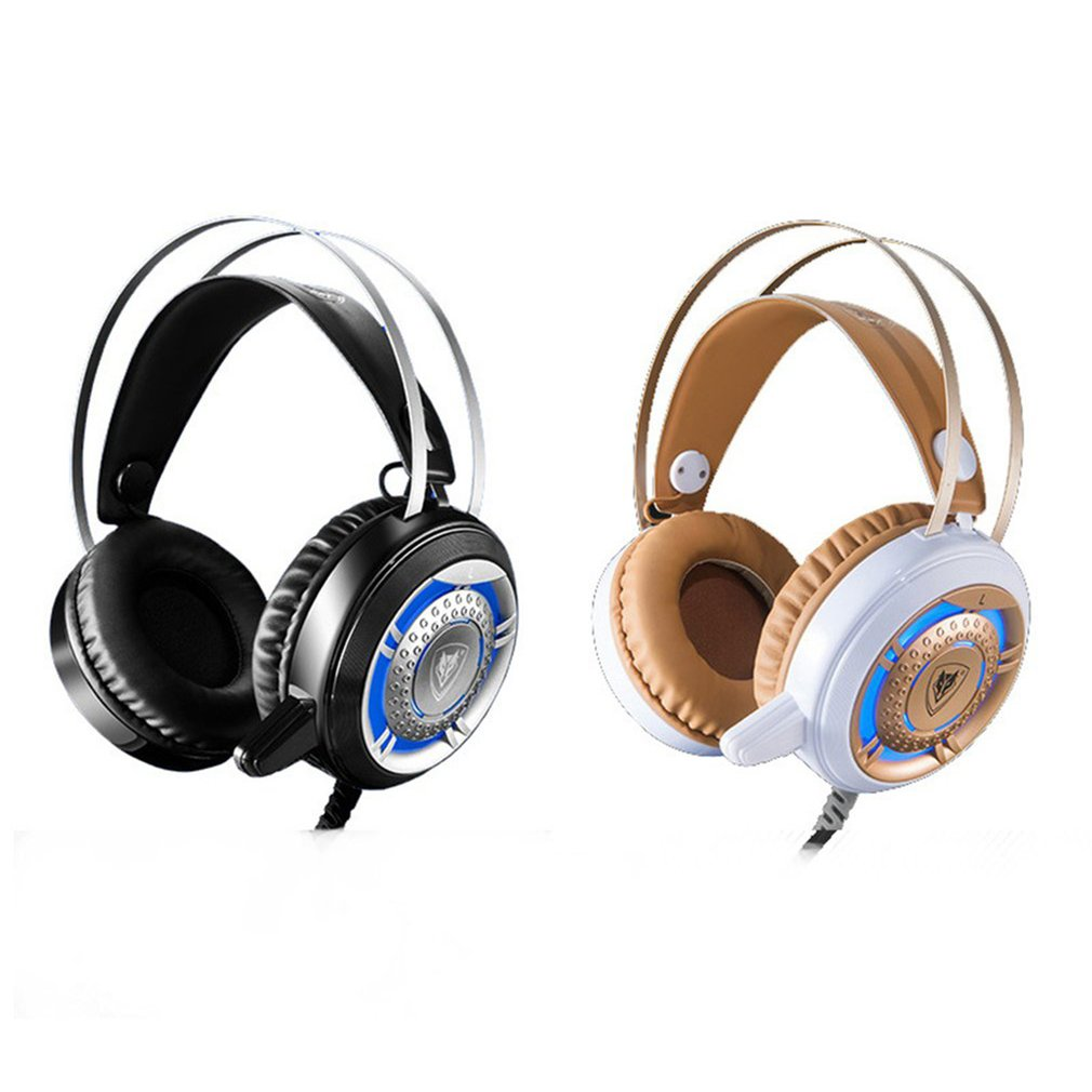NUBWO N1 Gaming Headset Over Ear Game Gaming Headphone With LED Light Computer Earphones Stereo Microphone Headphone