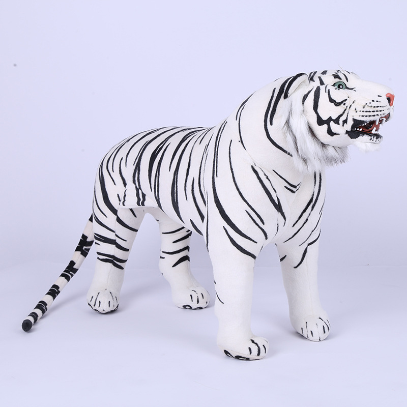 New Big Size 60 cm/65 cm/75 cm Comprimento Tigre Brinquedo De Pelúcia, LifeTiger Real Doll, tigre Acessórios Para Casa de Presente Juguete Brinquedos para As Crianças