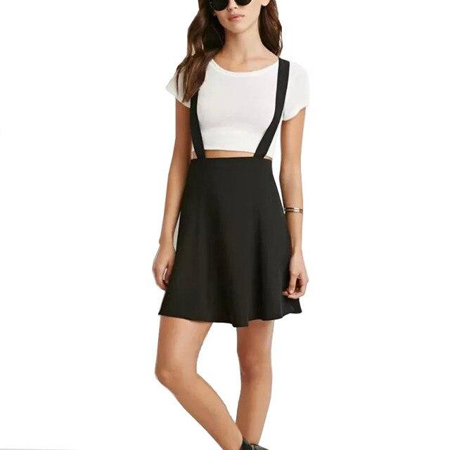 2016 nuevas llegadas sweet girls school negro faldas de la liga de color rojo estilo de arte plisada todo-fósforo de las mujeres de moda faldas