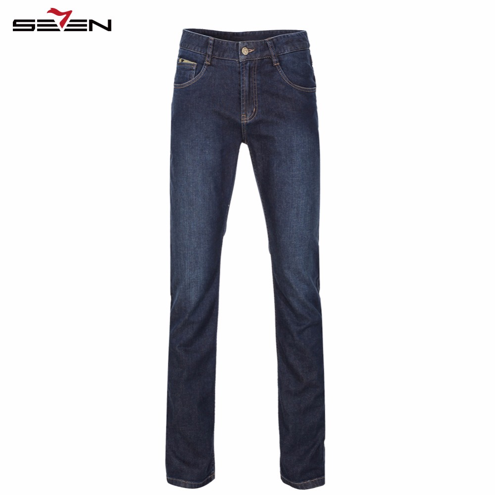 Seven7 Brand New Fashion Men Jeans Slim Denim Overalls Skinny Winter Jeans Homme Mens Warm Print Stretch Casual Pants 807S86070 2016 brand mens denim overalls fashion bib jeans skinny overalls for men hole slim black and white suspender pants m xxl