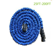 Free shipping 25-200FT Garden hose with expandable water hose blue green Garden Water hose connector EU/US [with out sprayer]