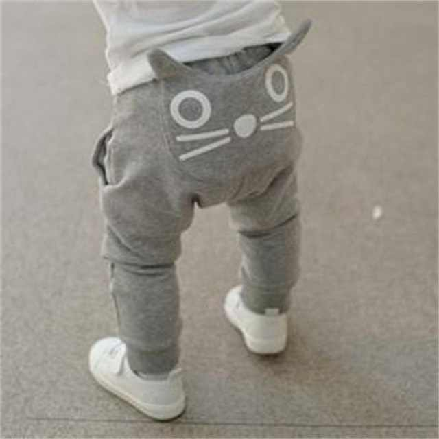 Children's Casual Pants Spring and Autumn Fashion Children's Clothing Cartoon Printing Harem Boys Girls Toddler Bell Bottoms