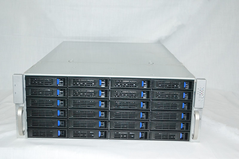 4U24 disk drive hot swap extended function HD storage server cloud computer box yt2008 2u8 disk hot swap storage server monitoring storage hard disk video case