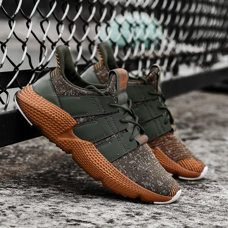 Cork Fly Weaving Men Casual Shoes Spring Summer Shoes Men Damping Tennis Sneakers Men High Quality Breathable Male Footwear