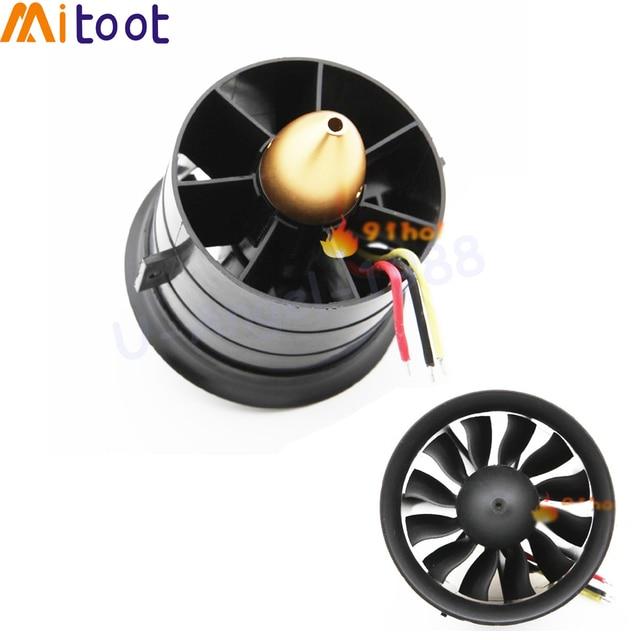 Sistema de ventilación con conductos EDF para avión Jet, Motor sin escobillas, Avión RC EDF, helicóptero RC, 64mm, 70MM, 90MM, 120MM